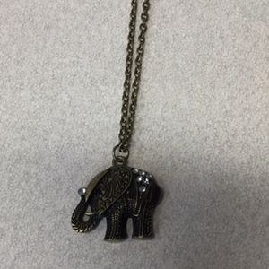 Claire's elephant necklace
